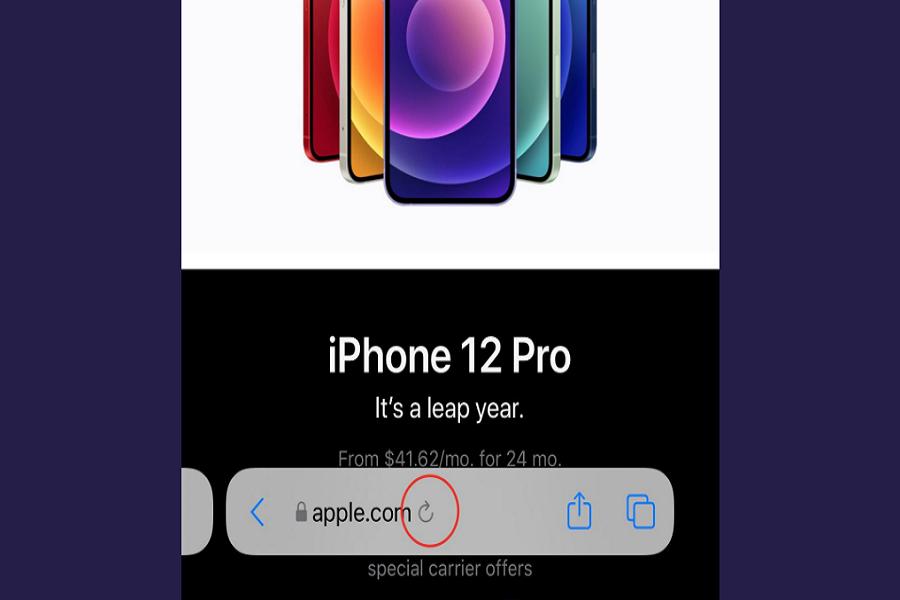 Safari Reload Button on iOS 15 Beta 4