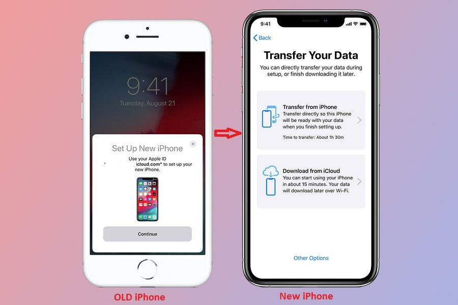 Transfer Data From One iPhone To Another