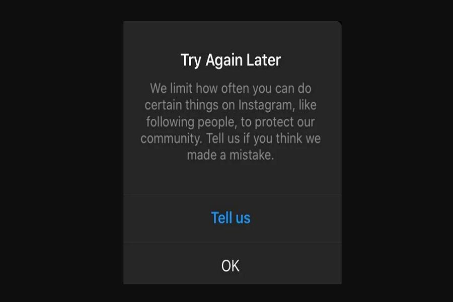 try again later instagram error