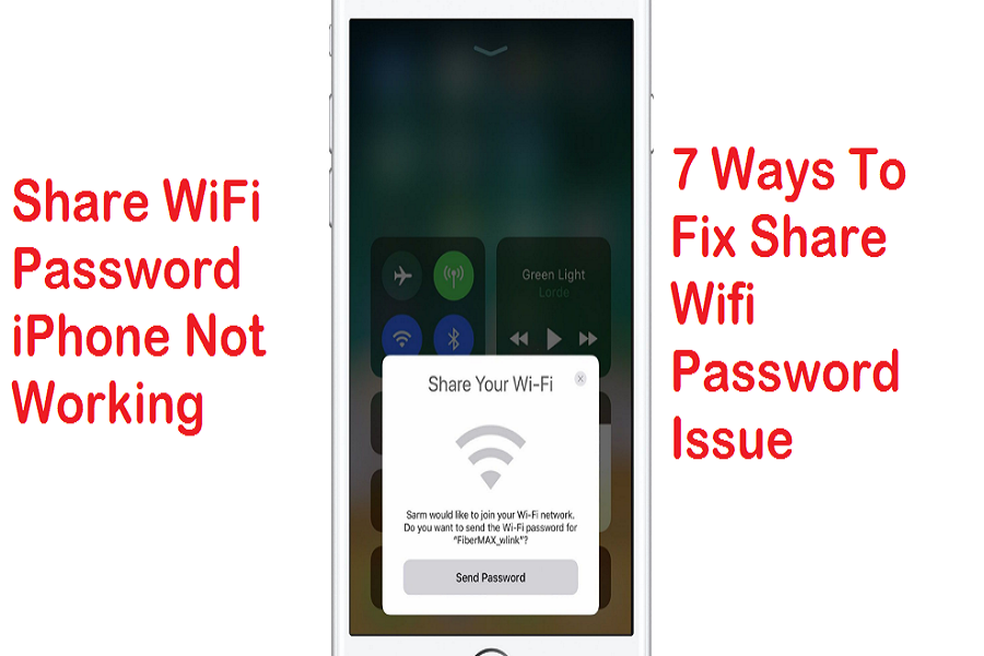 Share WiFi Password iPhone Not Working