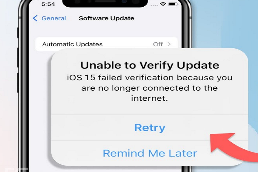 iOS 15 Failed Verification Not Connected To Internet