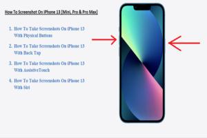 How To Screenshot On iPhone 13