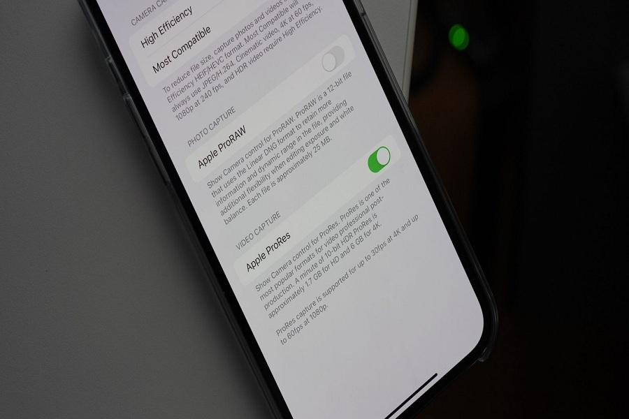 ProRes on iPhone 13 Pro
