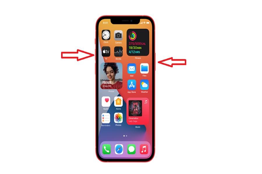Screenshot on iPhone 12